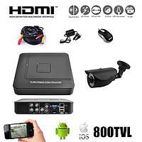 Комплект видеонаблюдения на 1 камеру. S1004HN
