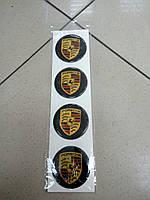 Заказ покупателя на изготовление силиконовых наклеек 3D на диски и колпаки PORSCHE  60 мм