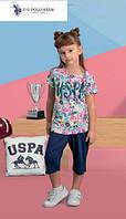 Футболка+капри для девочки 457-4 U.S.Polo Assn
