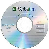 Диск DVD-RW Verbatim 4.7Gb 4X