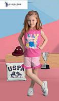 Футболка+капри для девочки 458-4 U.S.Polo