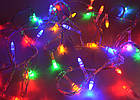 Светодиодная гирлянда капля, 100 светодиодов, IP20 (белый провод), фото 5