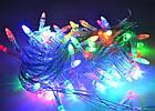 Светодиодная гирлянда капля, 100 светодиодов, IP20 (белый провод), фото 6
