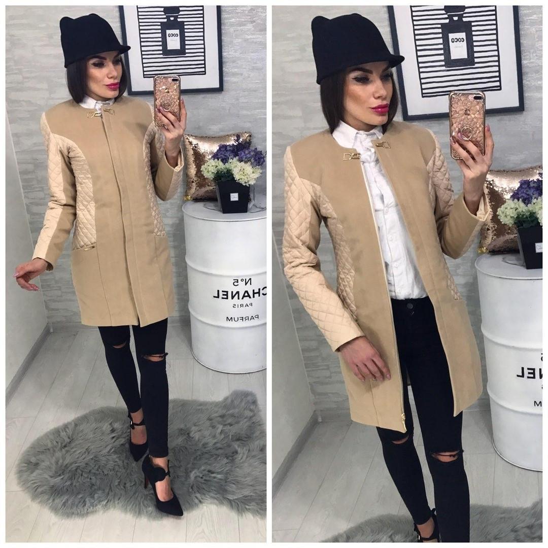 Женское стильное весеннее пальто