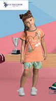Футболка+капри для девочки 465-4 U.S.Polo Assn