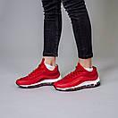 Женские кроссовки Nike Air Max 97 красные и желтые , фото 4