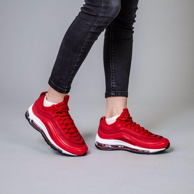 Женские кроссовки Nike Air Max 97 красные и желтые