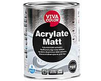 Фарба Vivacolor Acrylate Matt зносостійка фарба для стін, 0,9 л