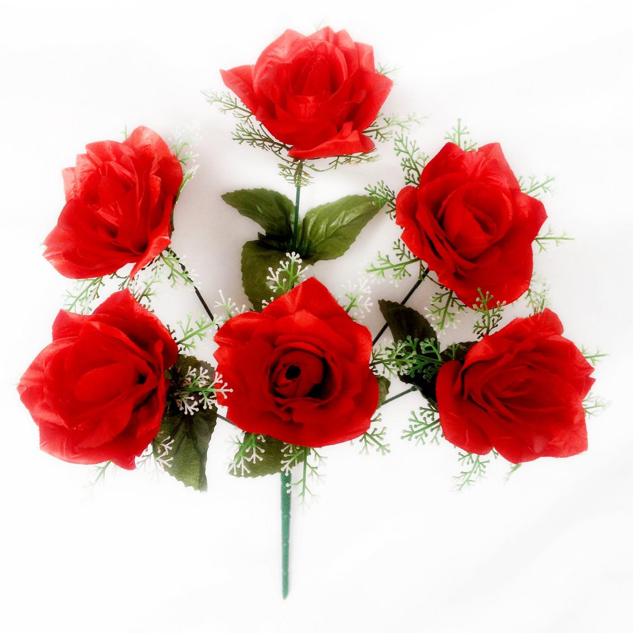 Букет розы в розетке , 42см (10 шт в уп)