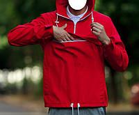 Мужская весенняя ветровка, анорак Ястребь Fred Perry красный, легкий (спортивные ветровки), фото 1