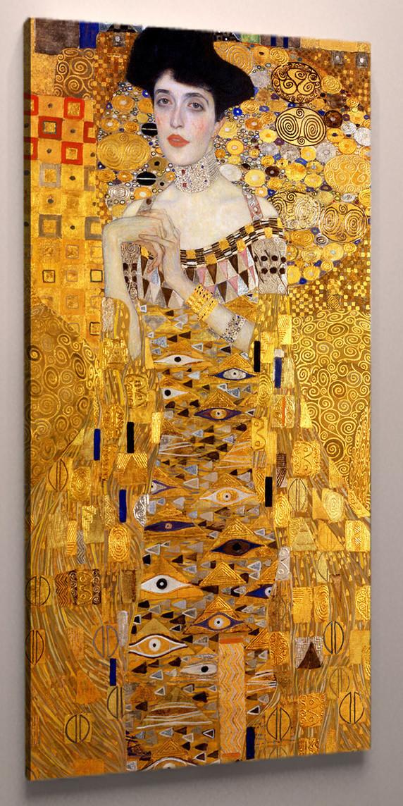 Модульная картина на холсте Климт портрет Адели 60х30