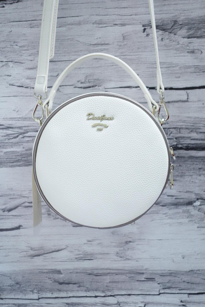 Круглый клатч David Jones 5952-2T white