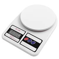 Электронные весы кухонные Domotec MS 400 белые с LCD дисплеем