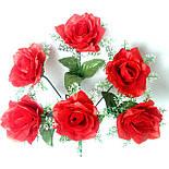 Букет розы в розетке , 42см (10 шт в уп), фото 2