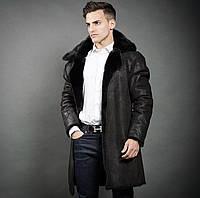 Пальто мужское дабл фейс из  норки