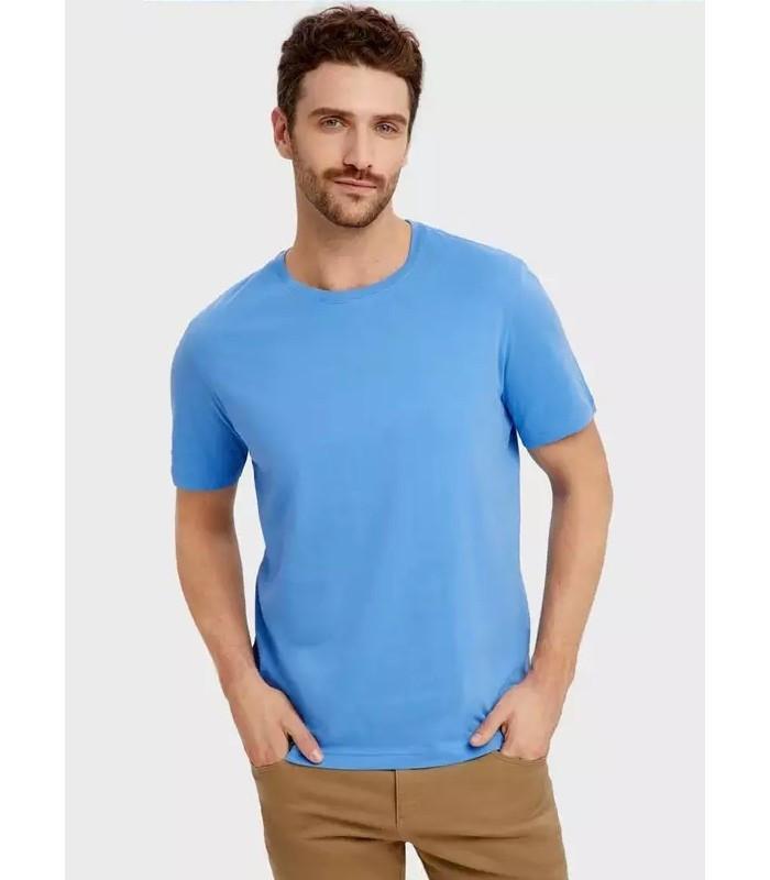 Мужская футболка молодежная бирюзовая 13-ЗУ