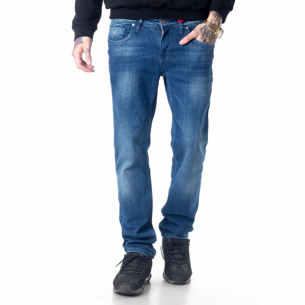Мужские джинсы Franco Benussi 16-625 темно-синие