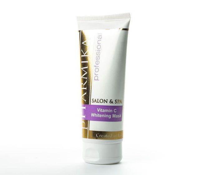 Отбеливающая маска с витамином С, АНА, арбутином (5%, pH – 4,5) - Vitamin C Whitening Mask pHarmika 200 мл