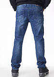 Мужские джинсы Franco Benussi 16-625 темно-синие, фото 4