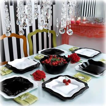Столовый сервиз Luminarc Authentic Black&White на 6 персон 19 предметов