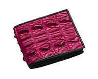 Портмоне из кожи крокодила Ekzotic leather Розовое (cw06), фото 1