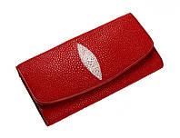 Кошелек из кожи ската Ekzotic leather Красный (stw 20), фото 1