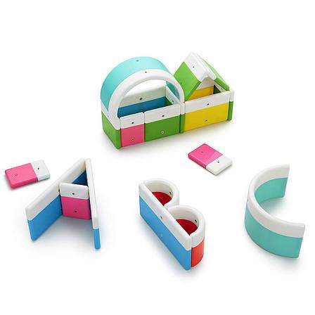 Магнітний конструктор Kid O Абетка у наборі 20 блоків (10454), фото 2