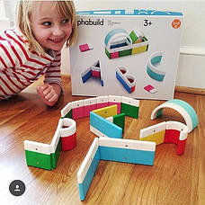 Азбука. Магнитный конструктор (20 блоков)(Kid O 10454), фото 3