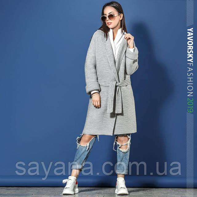 женское вязаное пальто оптом