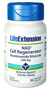 Никотинамид Рибозид, Life Extension, NAD+, клеточный регенератор, 250 мг , 30 капсул