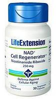 Никотинамид Рибозид, Life Extension, NAD+, клеточный регенератор с ресвератролом и т.д., 250 мг, 30 капсул