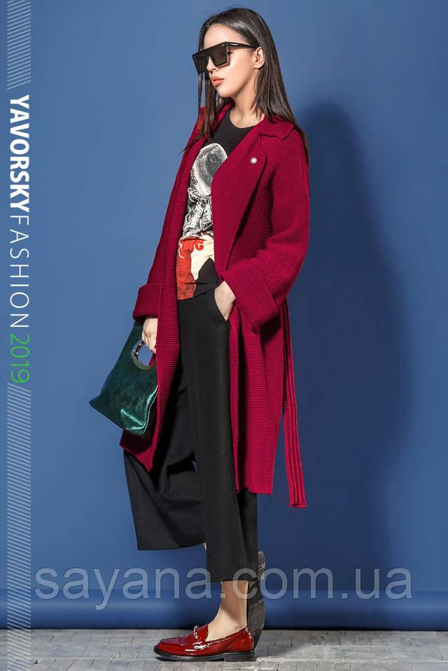 женское вязаное пальто интернет