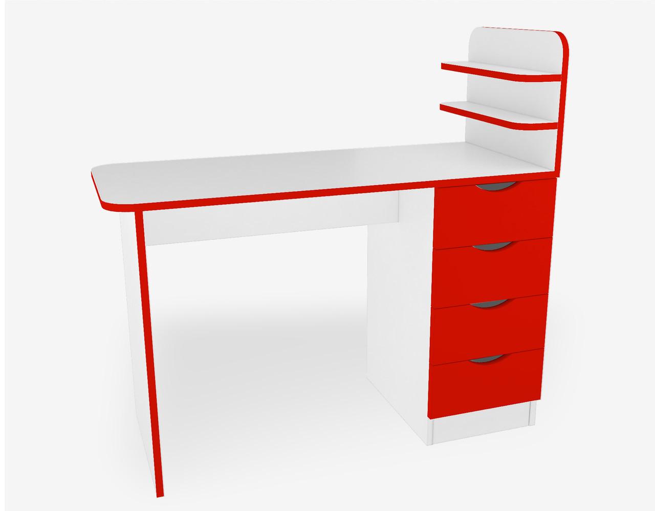 Маникюрный стол для салона красоты М121 цвет Красный