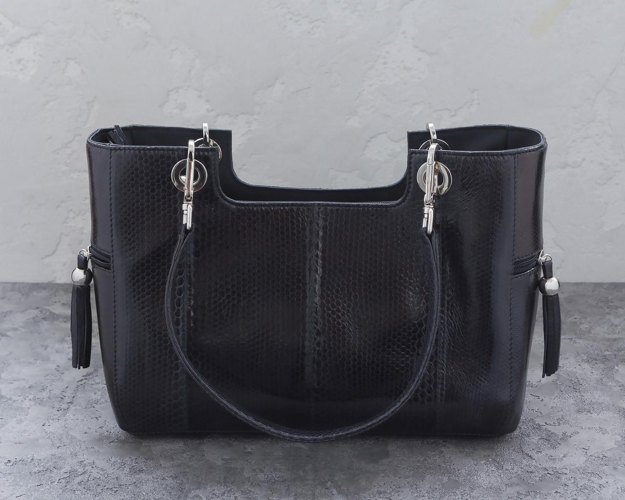 67140375bd8c Сумка из кожи морской змеи Ekzotic Leather Черная (snc 07_1). Купить ...