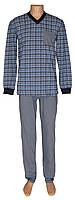 Пижама мужская трикотажная легкая 19026 Pocket Grey коттон, р.р.48-62