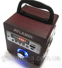 Акустическая колонка радио с ярким LED фонариком Atlanfa AT-R61, MP3, SD,USB, FM
