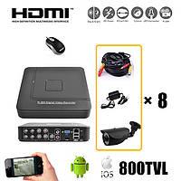 Комплект видеонаблюдения на 8 камер. S1008HN