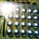 Колпачки защитные на колесные гайки 17 мм хром, фото 4