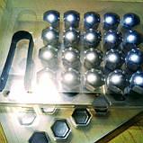 Колпачки защитные на колесные гайки 17 мм хром, фото 3