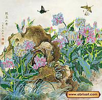 """Схема для вышивки бисером на натуральном холсте """"Китайские тюльпаны"""" AC-149"""