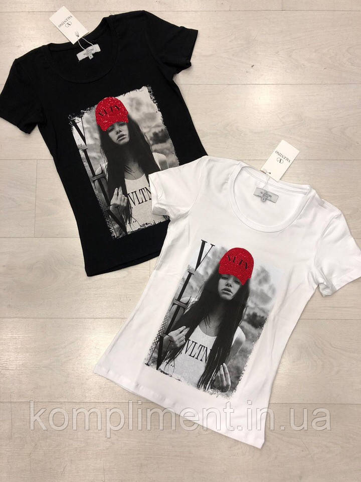 Модна жіноча турецька футболка з малюнком, FL 1032