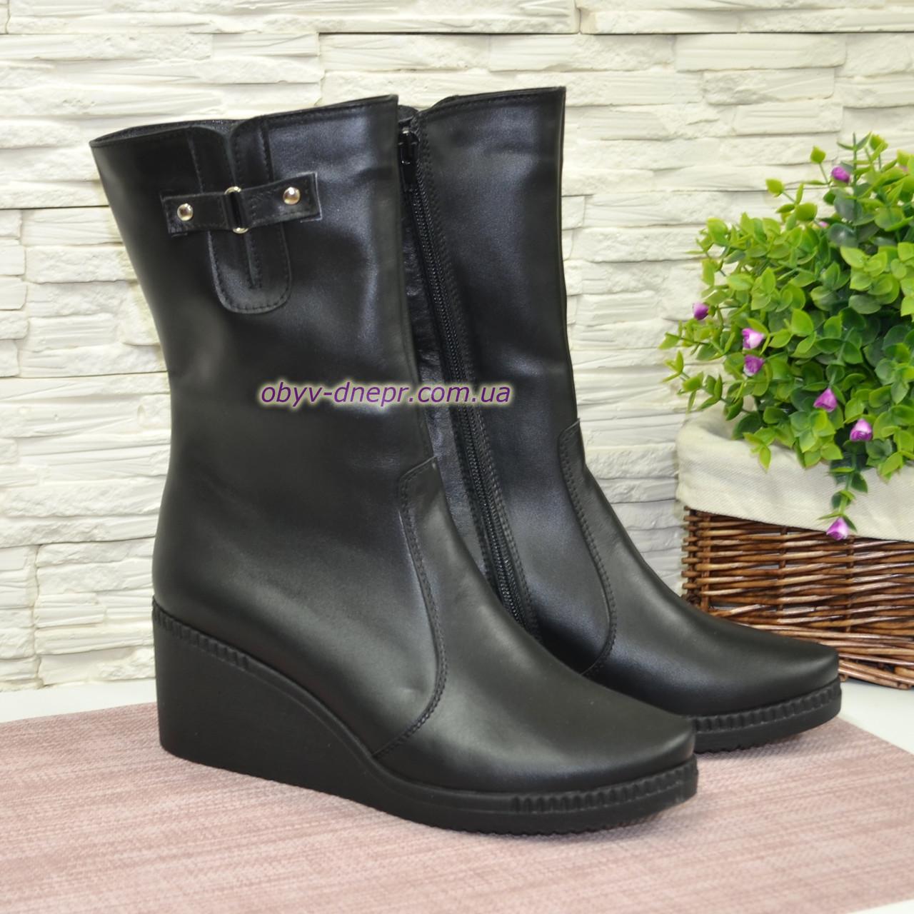 6bc3ade9e Женские демисезонные кожаные ботинки на танкетке: продажа, цена в ...