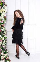 """Нарядное детское платье """"LILLIT"""" с ярусной юбкой из сетки (3 цвета), фото 3"""