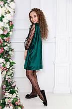 """Нарядное детское бархатное платье """"DANA"""" скарманами (3 цвета), фото 3"""