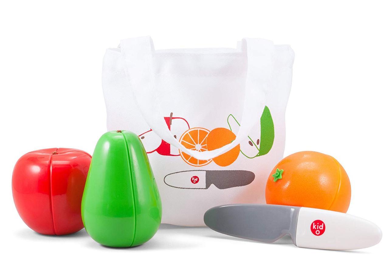 """Магнитный Игровой набор """"Фрукты"""", 2+ (3 фрукта и нож) Kid O"""