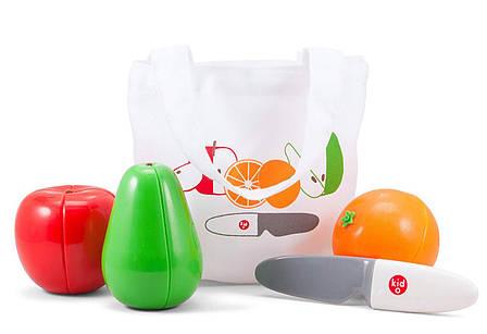 """Магнитный Игровой набор """"Фрукты"""", 2+ (3 фрукта и нож) Kid O , фото 2"""