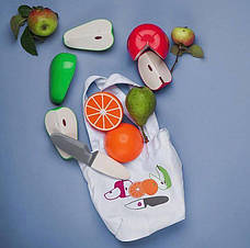 """Магнитный Игровой набор """"Фрукты"""", 2+ (3 фрукта и нож) Kid O , фото 3"""