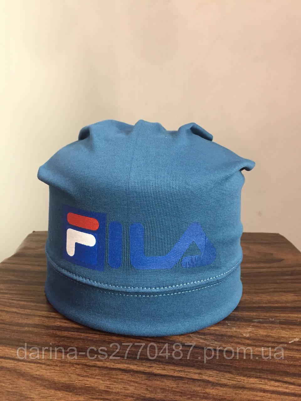 Детская трикотажная шапка с принтом для мальчика