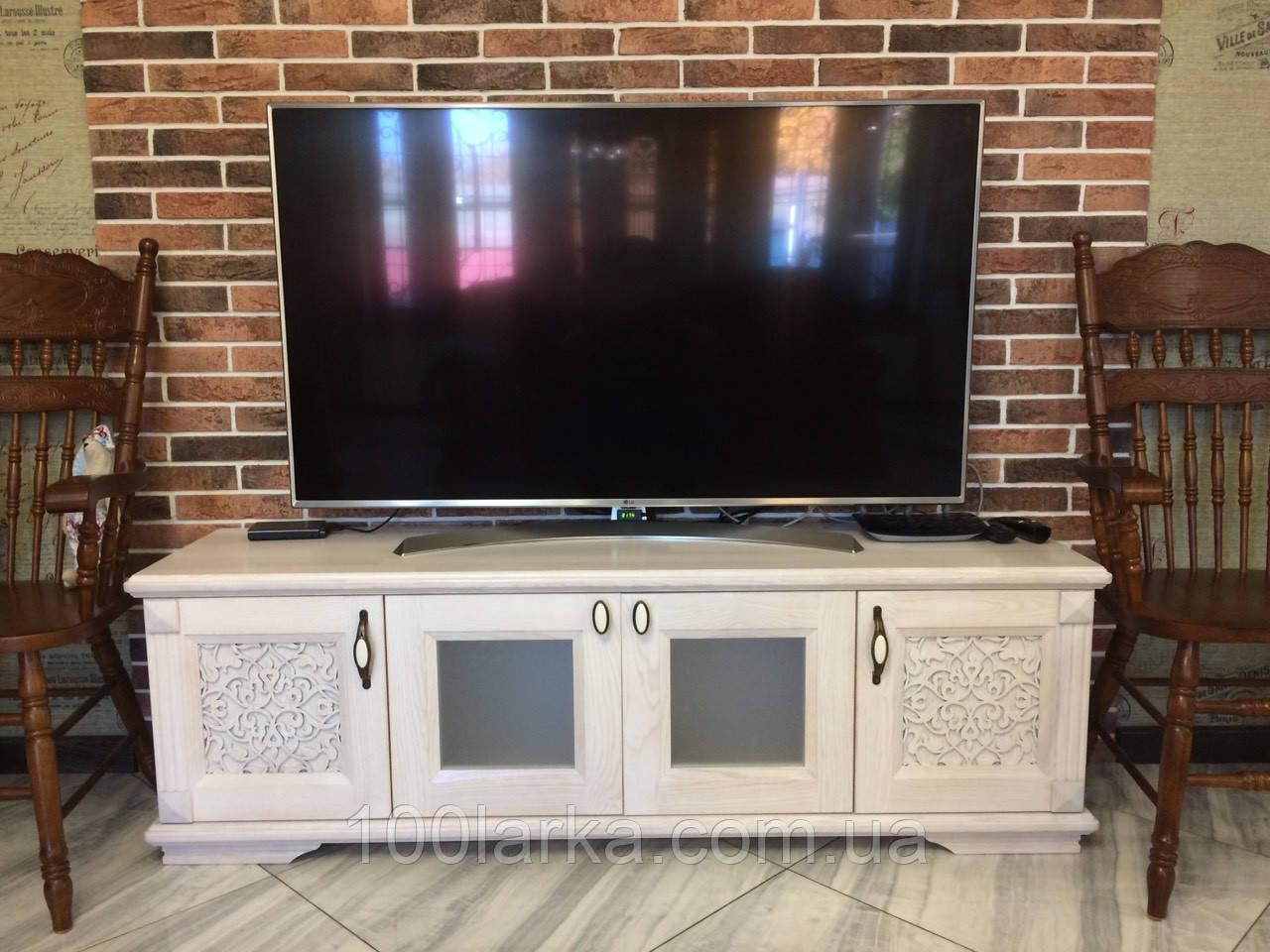 Комод,Тумба под телевизор (деревянная) с резным узором