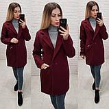 Стильне жіноче кашемірове пальто весняне, фото 4